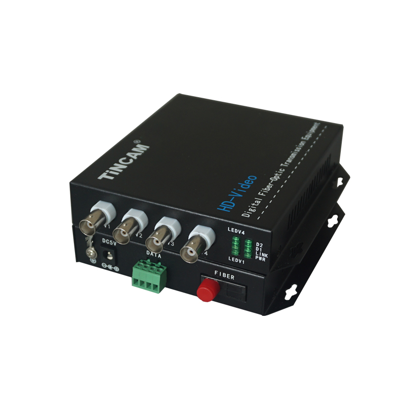 4-Channel Video & 1-Channel reverse RS485 Data   HD - Video Optical Transceiver