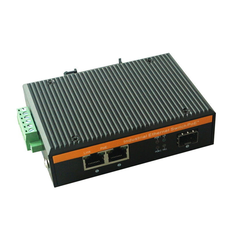 10 100m 1 Fiber Port 2 Rj45 Ports Industrial Poe Switch